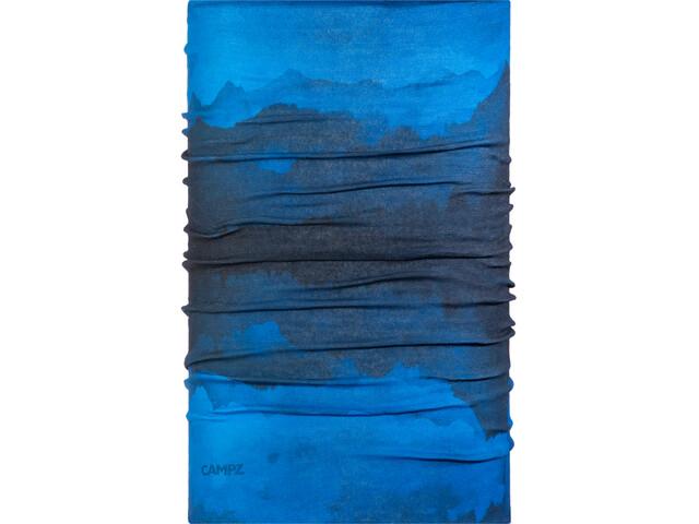 CAMPZ Multifunktionstuch berge blau